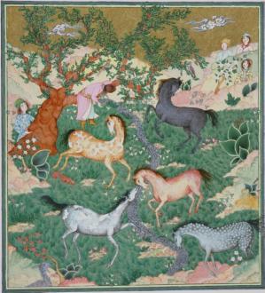 Tree and horses helene barrieu