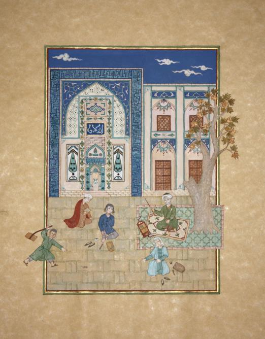 Claudine Gillot - Khamseh de Nizami - Majnun et Leïli à l'école