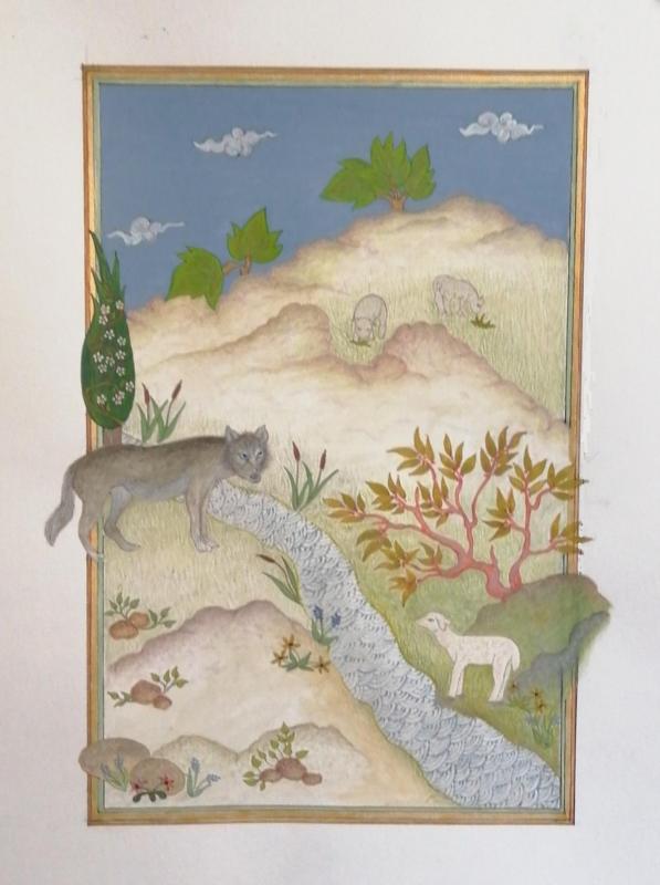 Le loup et l'agneau par Claudine Gillot